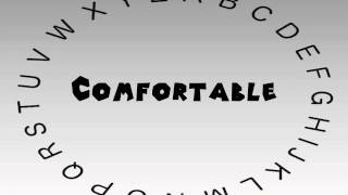 How to Say or Pronounce Comfortable