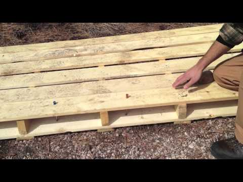 Easton Nano tent stakes hammered through wooden pallets! & Easton Nano tent stakes hammered through wooden pallets! - YouTube