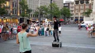 Amsterdam street performance goes wrong