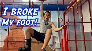 Bryton's Ninja race with a broken foot!