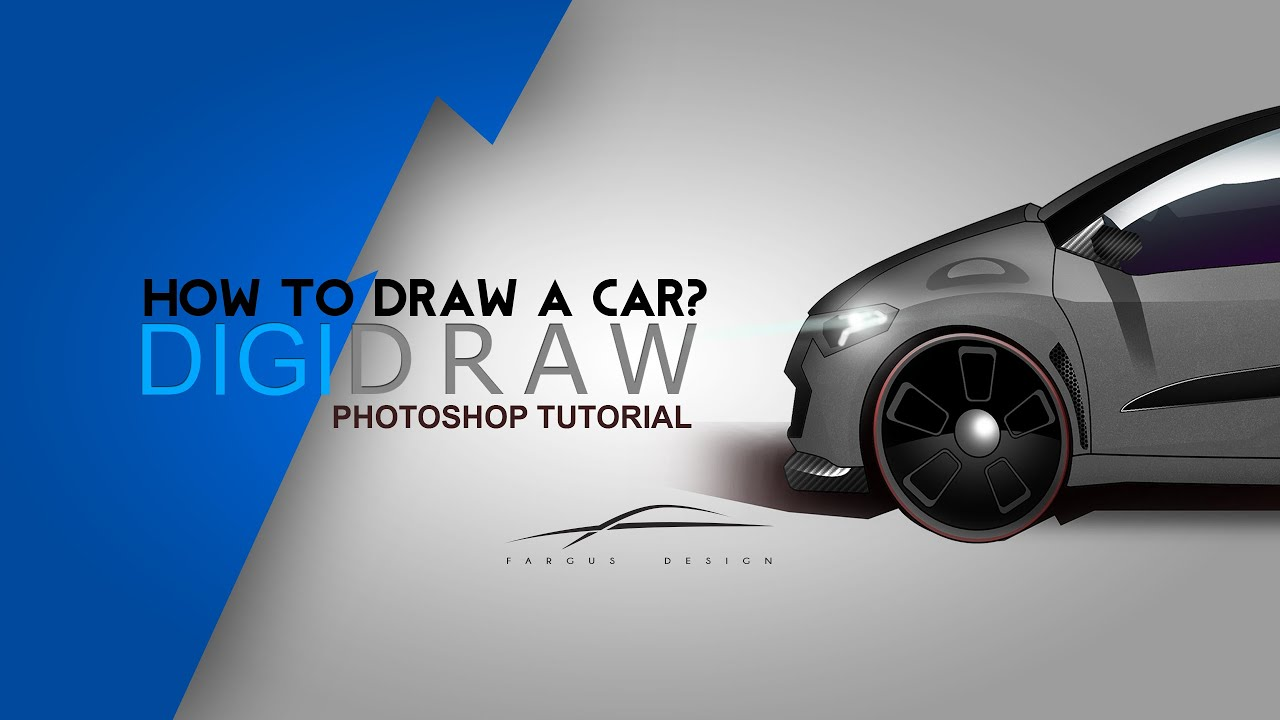 Wie zeichnet man ein Auto? How to draw a car? Carsketch Photoshop ...