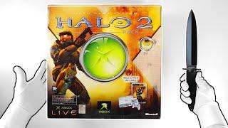 "Original Xbox ""HALO 2"" Console Unboxing (Rare) + Collector's Edition"