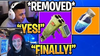 Streamers React to Quad Launcher REMOVED and SHIELDS BUFFED in Fortnite Daily Moments Highlights