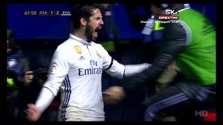 Isco vs Osasuna - Osasuna vs Real Madrid 1-3 - 11.2.2017.