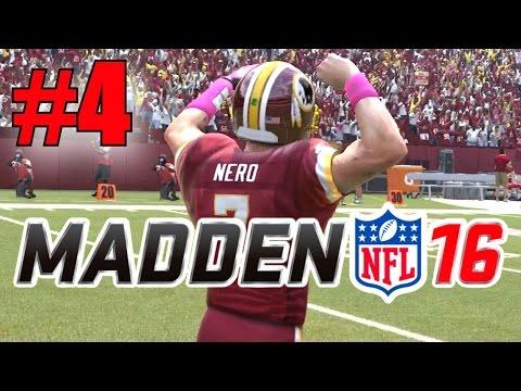 Madden 16 Career Mode - Part 4 - HERE WE GO! (Redskins vs Eagles, Week 4) [Xbox One]