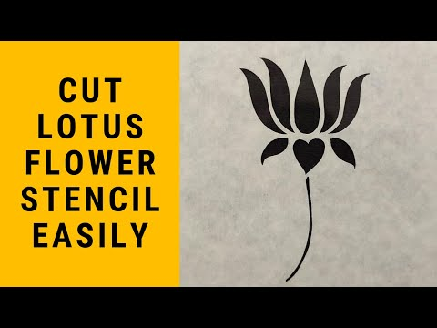 Making A Lotus Flower With Paper And Scissor | Sanjhi Art