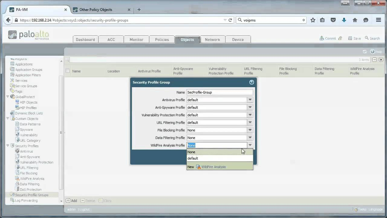 Security profile groups - on Palo Alto Networks firewalls