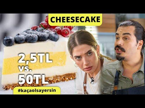 Şeflerimiz Yaptı: Dilimi 2,5 Liralık Cheesecake Vs. 50 Liralık Cheesecake Tarifi #kaçaolsayersin