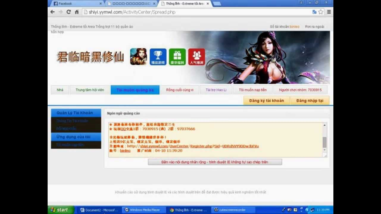 Xuc Tiến – Nhận KNB Webgame Ám Hắc Tru Tiên private mới nhất