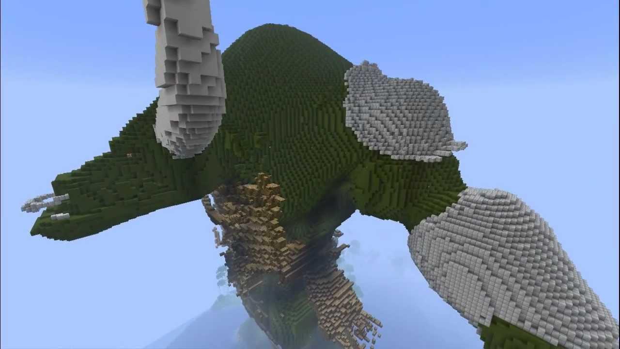 Minecraft construction yep356 a fond la 1 2 un tauren ou un orc youtube - Minecraft guide de construction ...