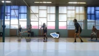 Блокировка нападающего удара - волейбол