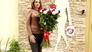 Букет Микс из Красных и Белых Роз. Доставка цветов по СПБ, Москве  и Краснодару(, 2015-06-26T14:07:17.000Z)