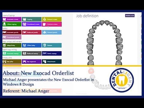 EXOCAD TUTORIAL - Dental-Teaser-The NEW Exocad Orderlist in Windows 8 Design