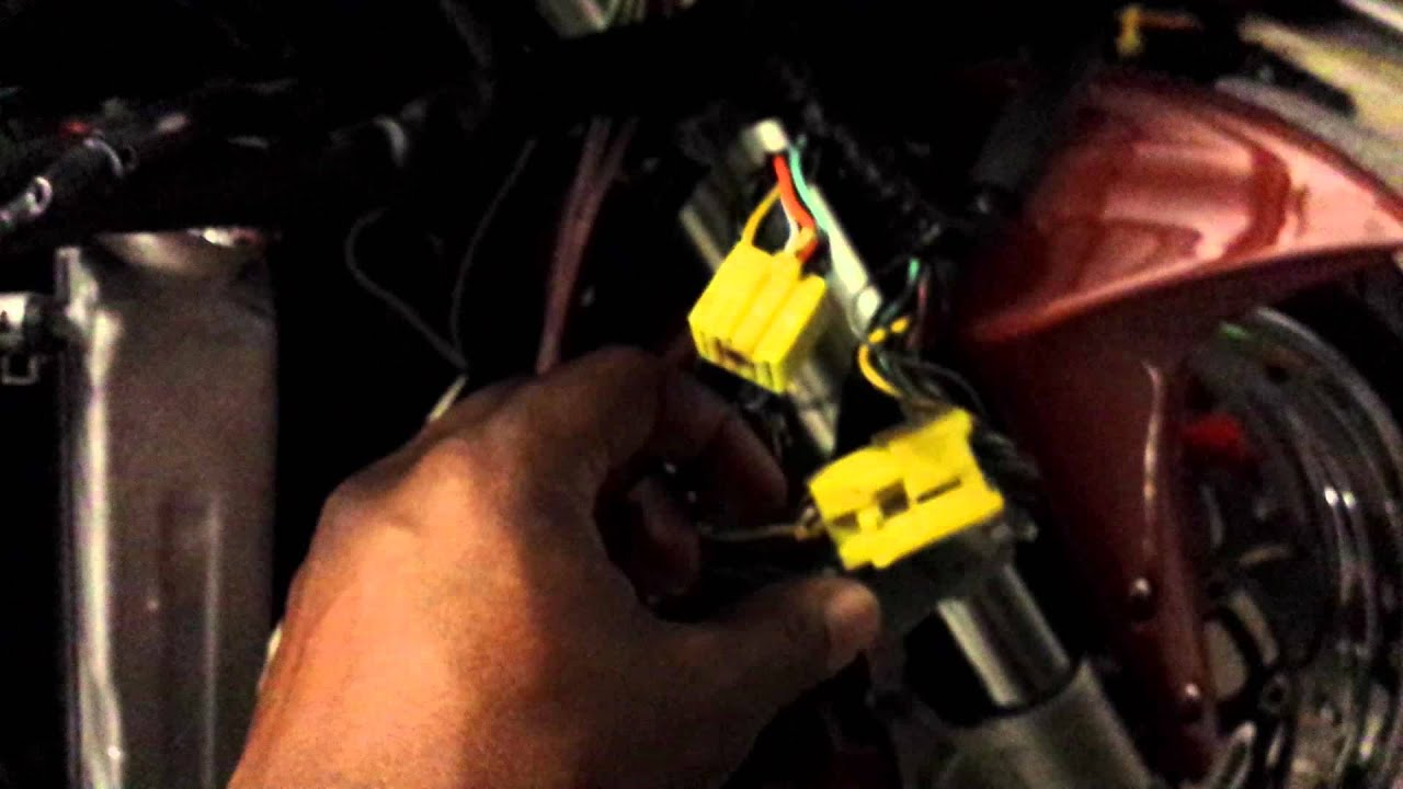 gsxr 600 wiring diagram 1996 honda civic alternator 2002 750 headlight fix - youtube
