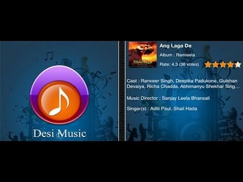 Bollywood Music | Hindi Music | Desi Music  iPhone App Review and Demo