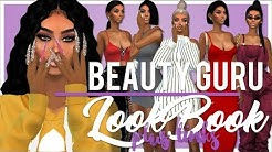 THE SIMS 4 | BEAUTY GURU LOOKBOOK 😍 + HOW TO USE SIMSDOM + CC LINKS!