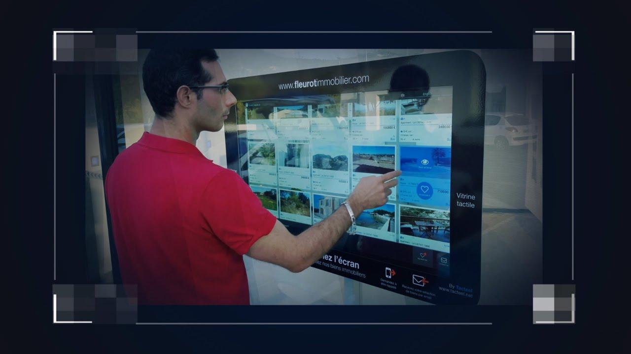 vitrine interactive tactile pour agences immobili 232 res affichage dynamique