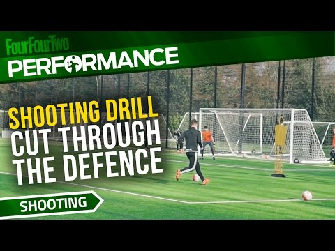 Soccer shooting exercise | Cut through the defence drill | Swansea City Academy