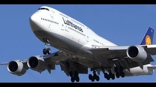 Inaugural Lufthansa Airlines Boeing 747-8 Landing & Takeoff - Chicago O