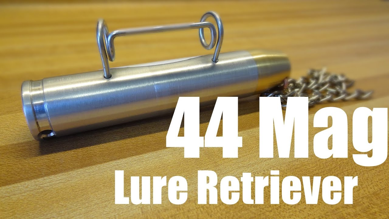 44 mag lure retriever youtube for Fishing lure retriever