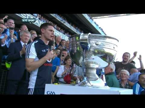 Stephen Cluxton winning captain's speech All-Ireland final 2013 | The Sunday Game Live