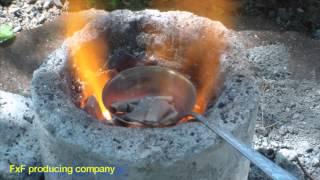 Плавка алюминий-магниевого сплава(Тестовая плавка сплава алюминий/магний Видео ускорено в 4 раза., 2013-05-09T17:59:23.000Z)