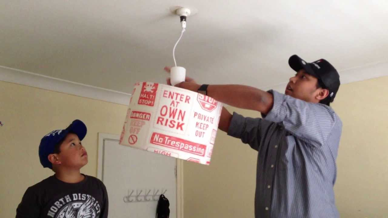 Diy suspension kits and how to install a ceiling lamp shade youtube diy suspension kits and how to install a ceiling lamp shade mozeypictures