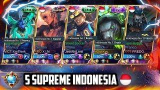 GILAA BOSS!! 5 HARAPAN BANGSA 🇮🇩 JADI SATU TIM!! LAWAN JUARA MPL?? BANTAI!! - Mobile Legends