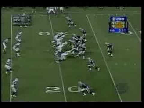 Mo Lewis hit on Drew Bledsoe