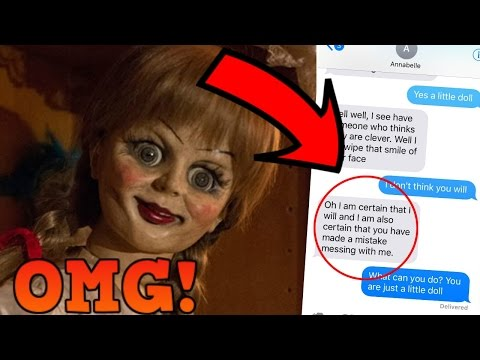 TEXTING ANNABELLE DOLL *OMG SHE ACTUALLY REPLIES* (SHE WANTS TO KILL ME)