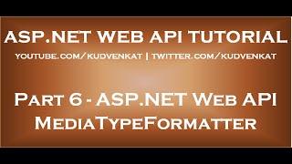 ASP NET Web API MediaTypeFormatter