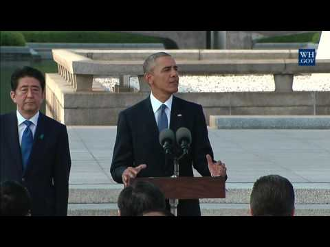 President Obama Participates in a Wreath Laying Ceremony in Hiroshima, Japan