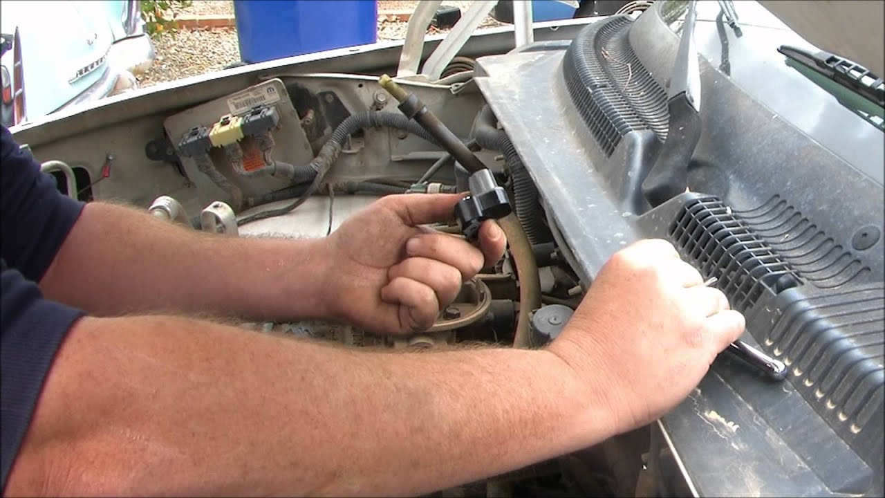 1998 Dodge Dakota Diagnose And Replace The Throttle Position Sensor 1997 Distributor Wiring Diagram Youtube