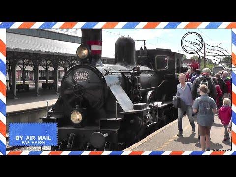 Vintage Steam Locomotive Train - DSB Litra K 582 Danske Statsbaner - Built by Ernesto Breda in 1900