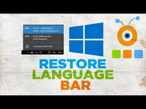 How To Restore The Language Bar In Windows 10