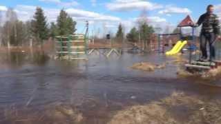 Наводнение Тосно, садоводство Зареченская, на лодке...
