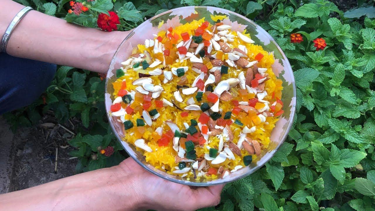 Best Punjabi Zarda Recipe/Indian Sweet Yellow Rice Recipe ...