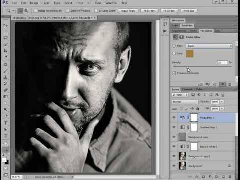 Видеоурок Photoshop. Драматическое Ч/Б
