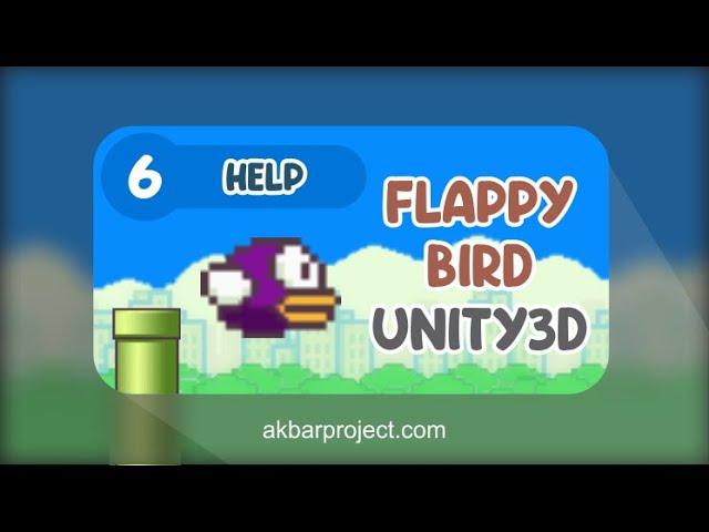 Tutorial Membuat Game Flappy Bird Dengan Unity (Part 6) - Petunjuk Permainan