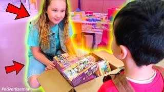 Giving Toys to Children's Hospital!! Kids React to Ruby Rube