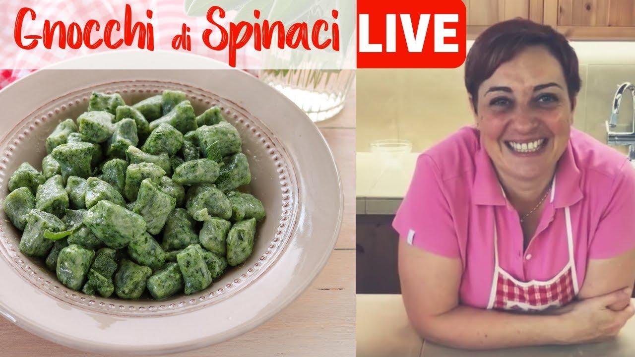 Ricetta Gnocchi Spinaci E Patate.Benedetta Live Gnocchi Di Spinaci Youtube