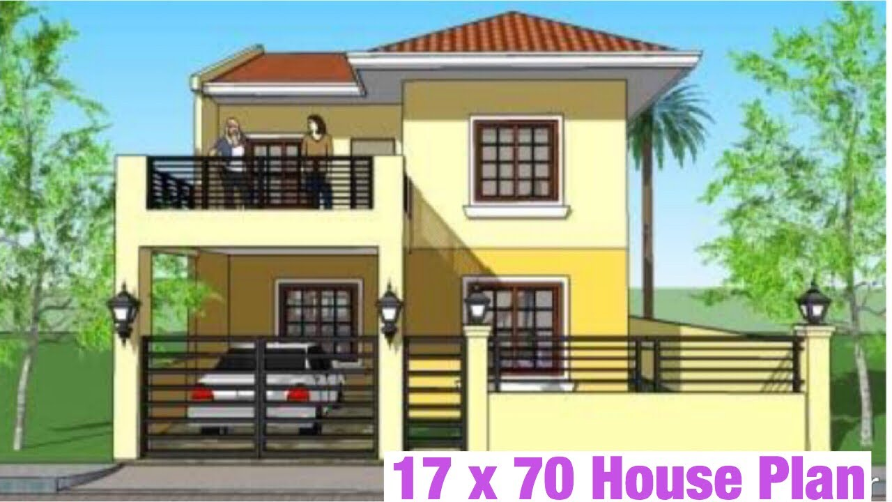 17 X 74 , 5m x 25m , House Plan , Map 2BHK , With Car ...