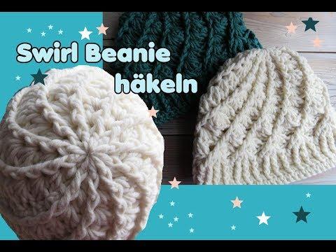 Swirl Beanie Mütze häkeln, Streifen Muster, sehr einfach - Простые ...