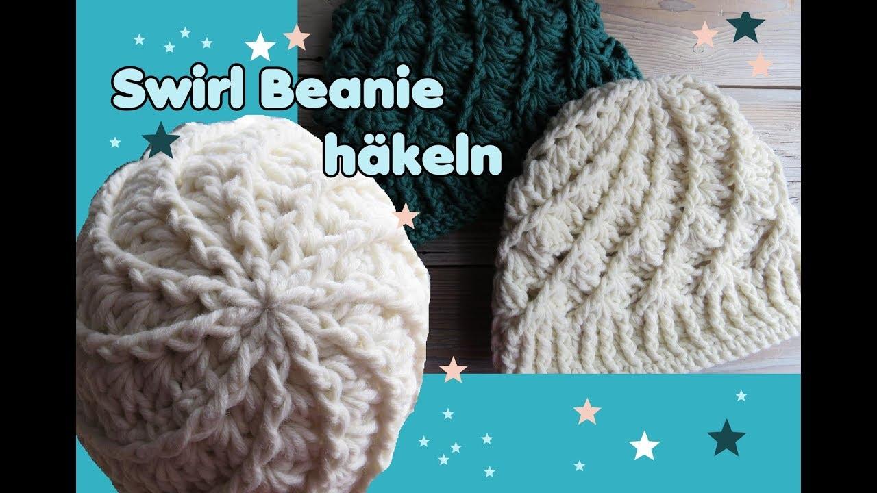 Swirl Beanie Mütze Häkeln Streifen Muster Sehr Einfach Youtube