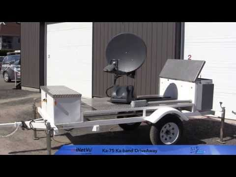 Mobile Ka 75V Internet Satellite Antenna on a trailer - NJ Albert Telecommunications