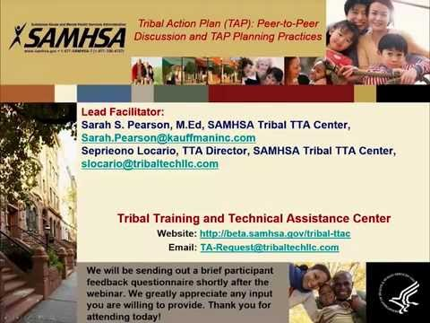 Tribal Action Plan (TAP): Peer-to-Peer Discussion and TAP Planning Practices