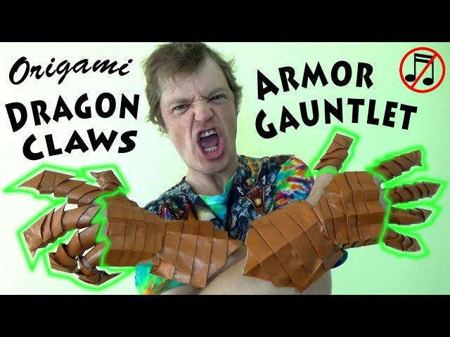How To Make Origami Dragonclaw Gauntlets Boing