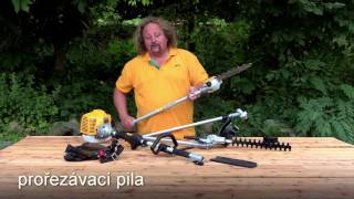 Křovinořez Riwall 4 v 1 - multifunkční pomocník na zahradu