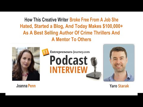 Joanna Penn: Writer Broke Free From Job, Started Blog, Makes $100K As Author & Mentor To Writers Video