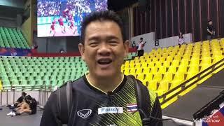 นักตบลูกยางสาวทีมชาติไทย ลงสนามซ้อมแล้ว เมื่อช่วงเช้าที่ผ่านมา วอลเลย์บอลหญิงเนชั่นส์ ลีก 2019
